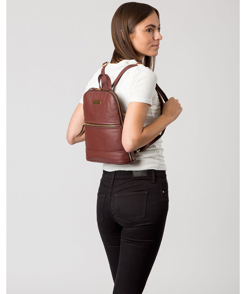 'Ellerton' Port Leather Backpack image 2