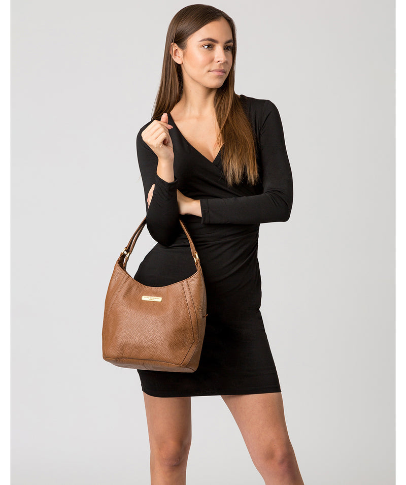 'Somerby' Tan Leather Shoulder Bag image 2