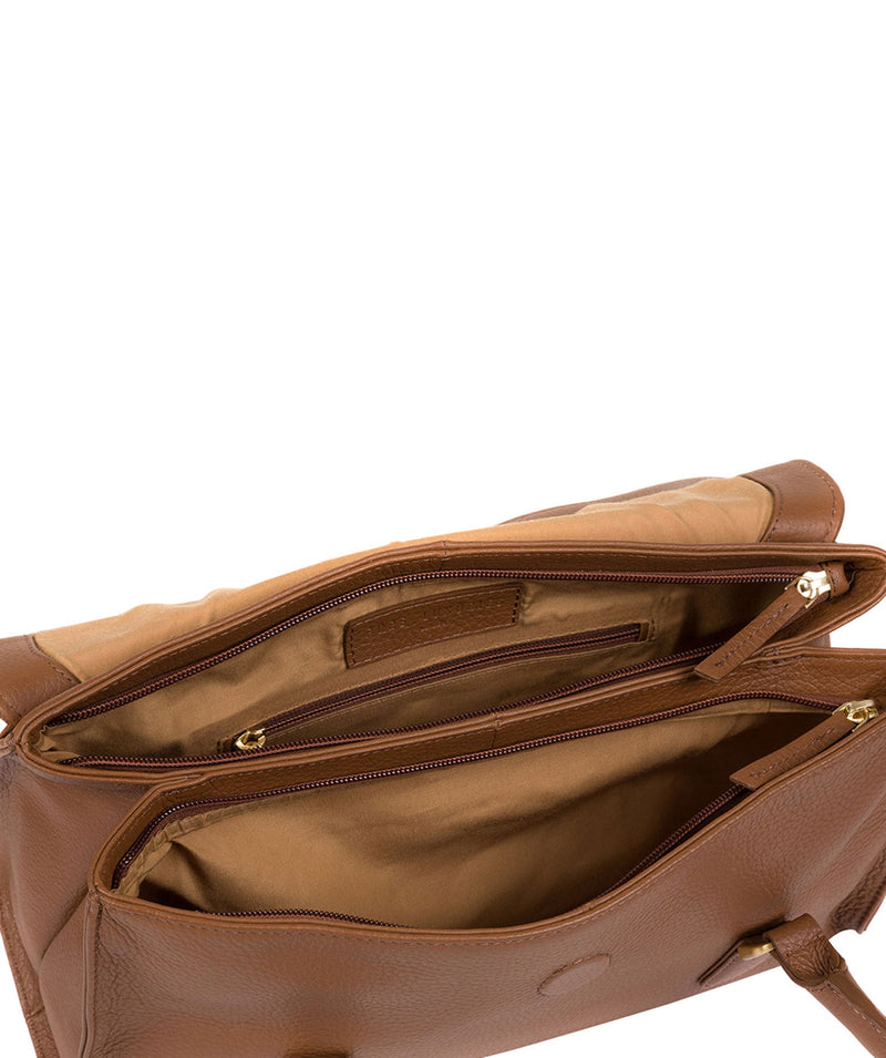 'Milton' Tan Leather Handbag