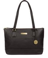 'Wimbourne' Black Leather Tote Bag image 1