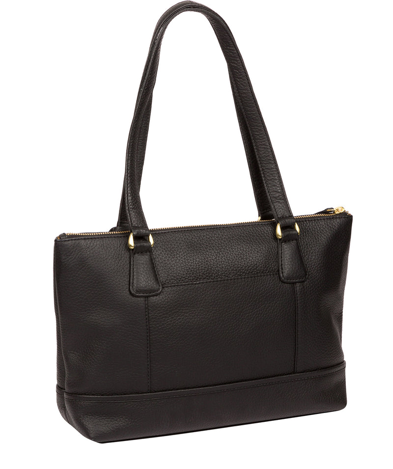 'Wimbourne' Black Leather Tote Bag image 3