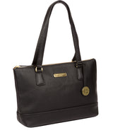 'Wimbourne' Black Leather Tote Bag image 5