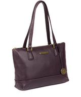 'Wimbourne' Grey Leather Tote Bag image 3