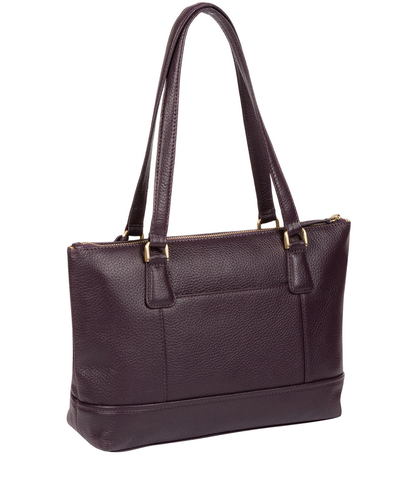 'Wimbourne' Grey Leather Tote Bag image 7