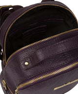'Gloria' Plum Leather Backpack Pure Luxuries London