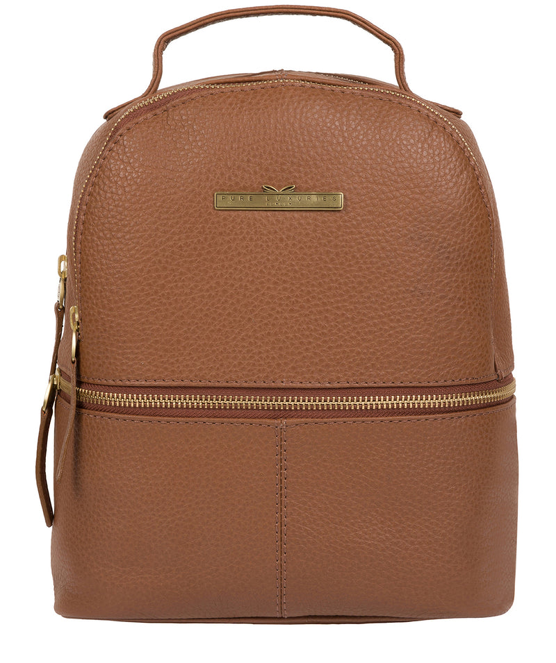 'Gloria' Tan Leather Backpack Pure Luxuries London