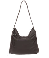 'Barbara' Slate Leather Shoulder Bag image 1