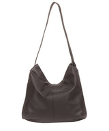 'Barbara' Slate Leather Shoulder Bag image 3