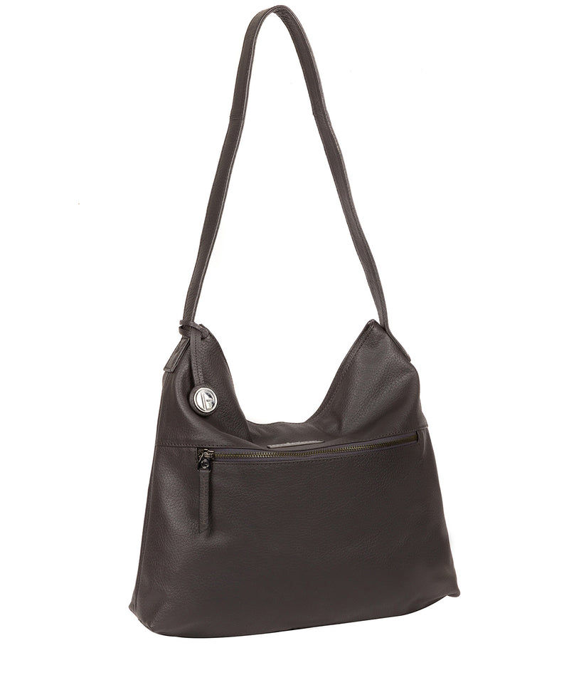 'Barbara' Slate Leather Shoulder Bag image 5