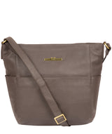 'Dorothea' Grey Leather Shoulder Bag image 1