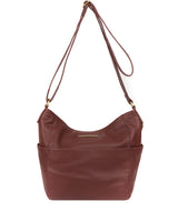 'Dorothea' Port Leather Shoulder Bag image 1