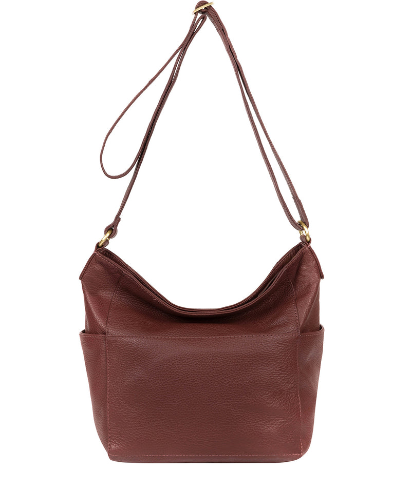 'Dorothea' Port Leather Shoulder Bag image 3