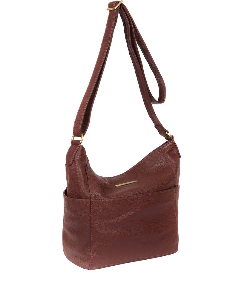 'Dorothea' Port Leather Shoulder Bag image 5