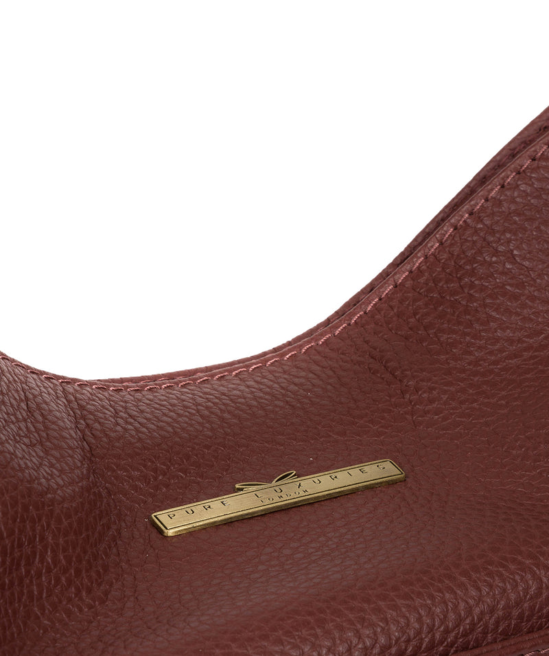 'Dorothea' Port Leather Shoulder Bag image 6