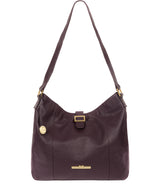 'Elaine' Plum Leather Shoulder Bag image 1