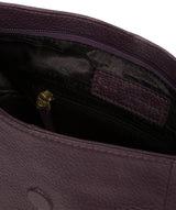 'Elaine' Plum Leather Shoulder Bag image 4