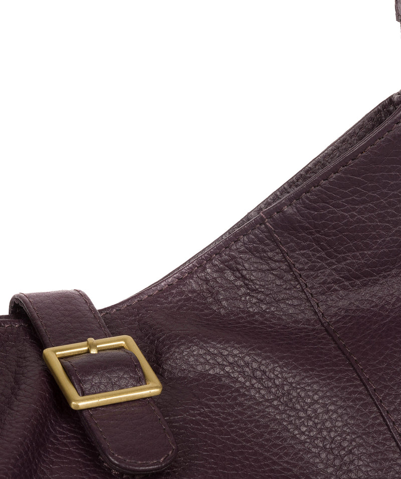 'Elaine' Plum Leather Shoulder Bag image 6