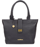 'Ida' Midnight Blue Leather Tote Bag image 1