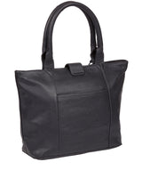 'Ida' Midnight Blue Leather Tote Bag image 3
