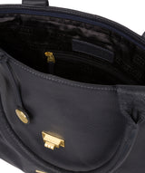 'Ida' Midnight Blue Leather Tote Bag image 4
