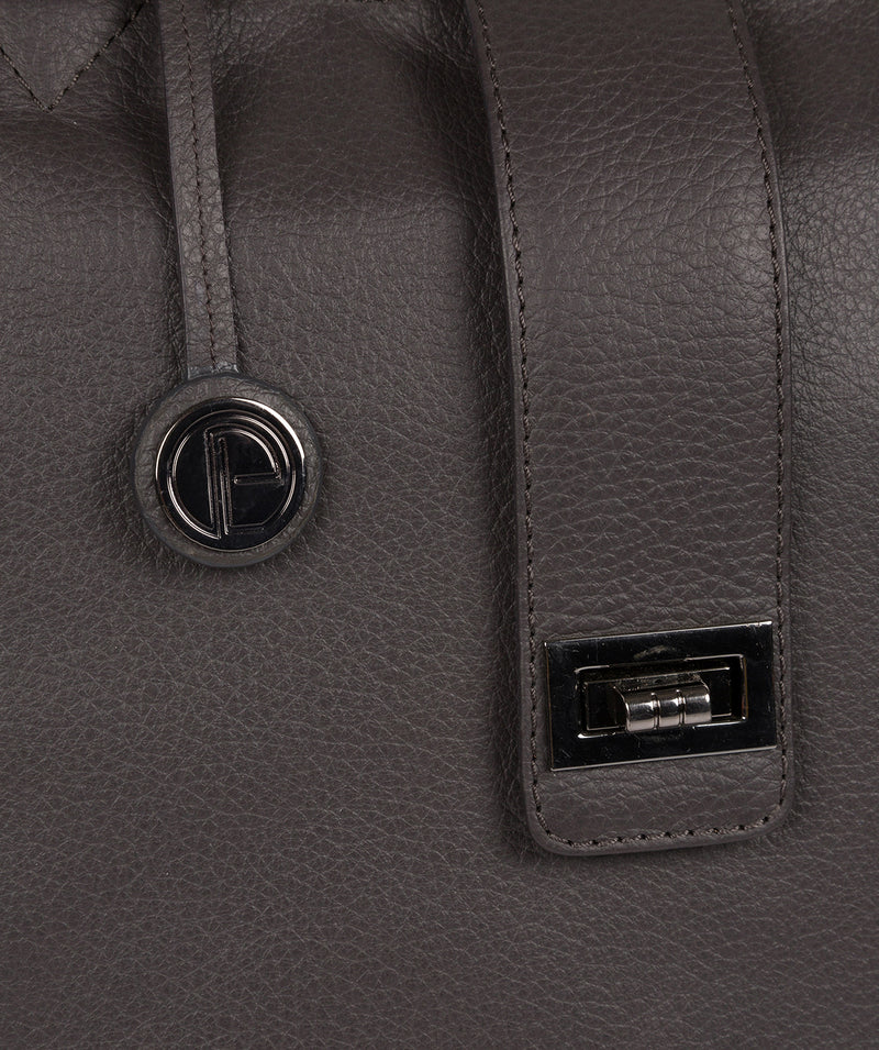 'Ida' Slate Leather Tote Bag Pure Luxuries London