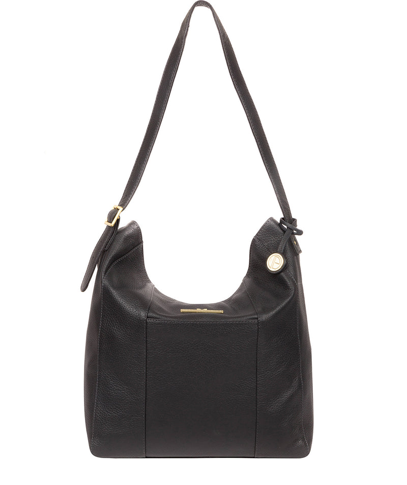 'Rachael' Midnight Blue Leather Shoulder Bag image 1