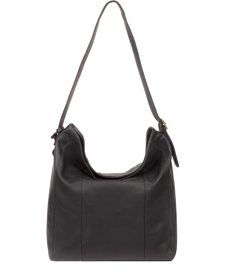 'Rachael' Midnight Blue Leather Shoulder Bag image 3