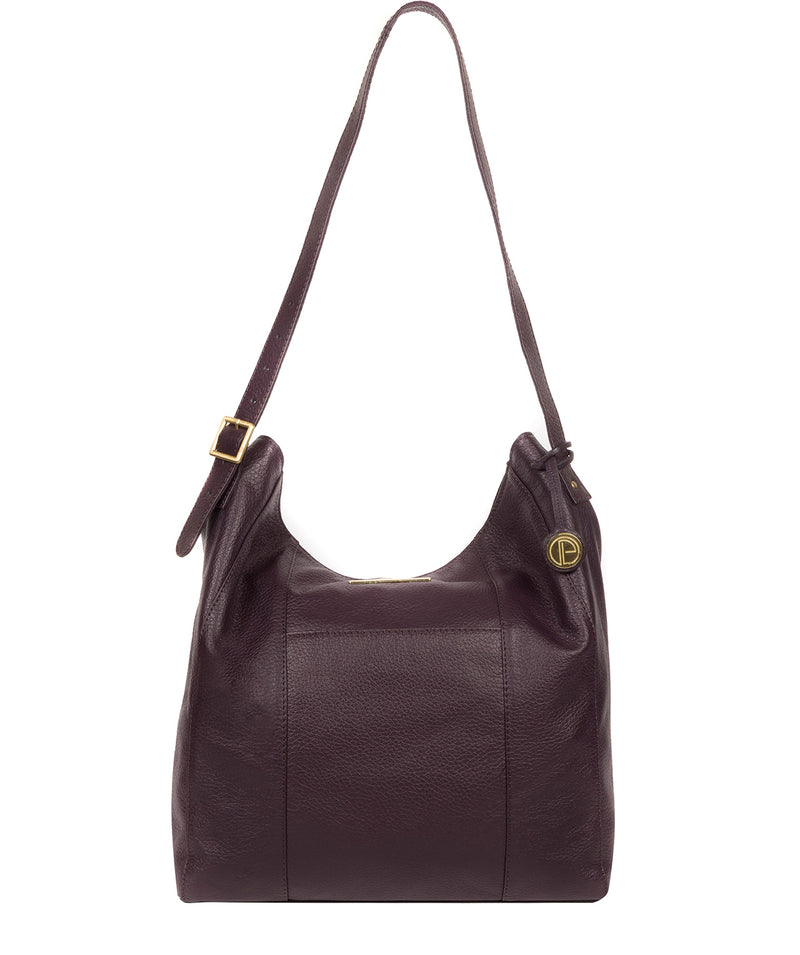 'Rachael' Plum Leather Shoulder Bag image 1