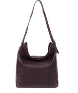 'Rachael' Plum Leather Shoulder Bag image 3