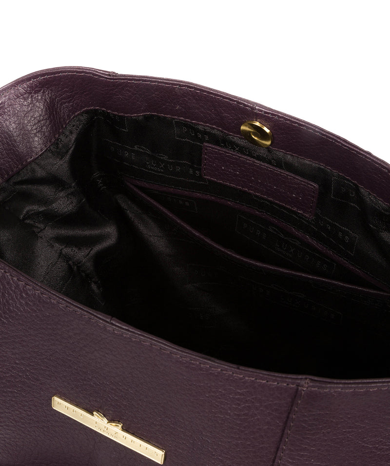 'Rachael' Plum Leather Shoulder Bag image 4