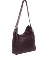 'Rachael' Plum Leather Shoulder Bag image 5