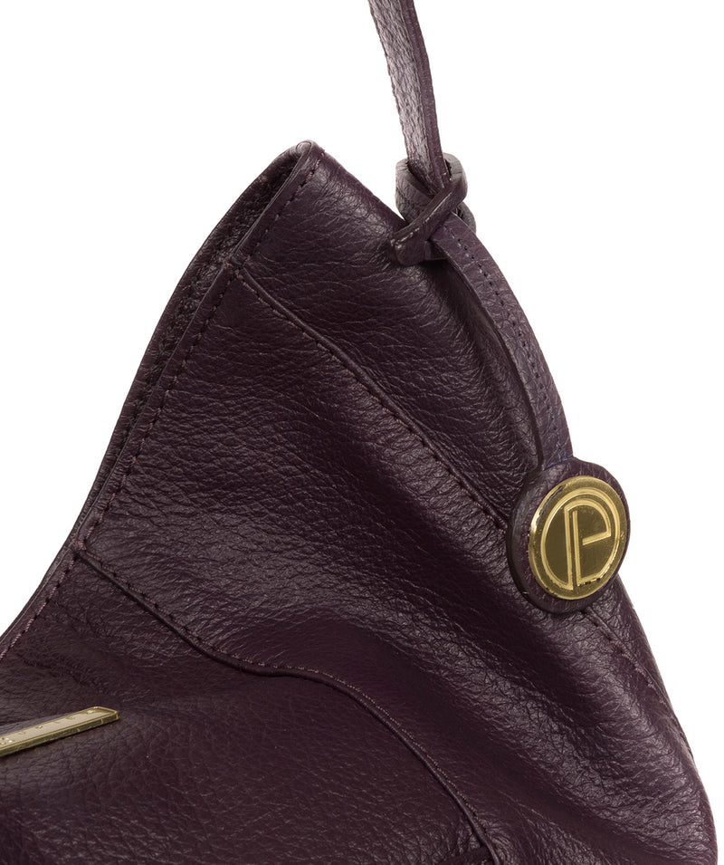 'Rachael' Plum Leather Shoulder Bag image 6