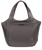 'Alina' Slate Leather Tote Bag image 1