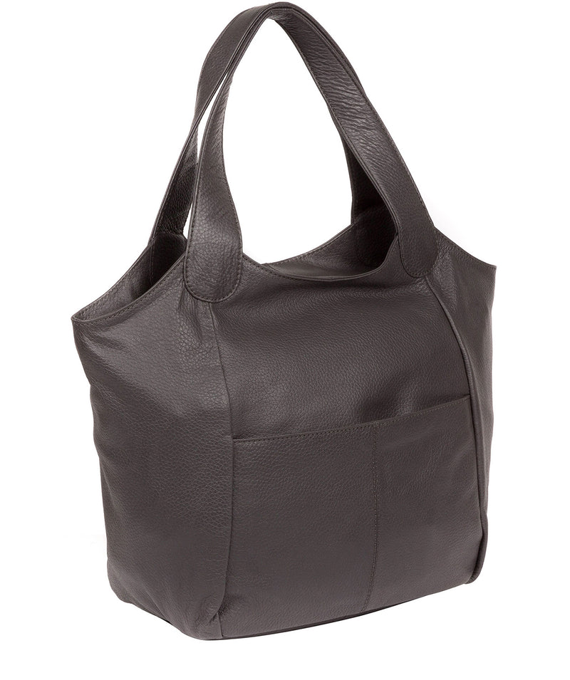'Alina' Slate Leather Tote Bag image 3
