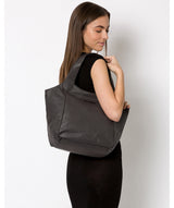 'Alina' Slate Leather Tote Bag image 2