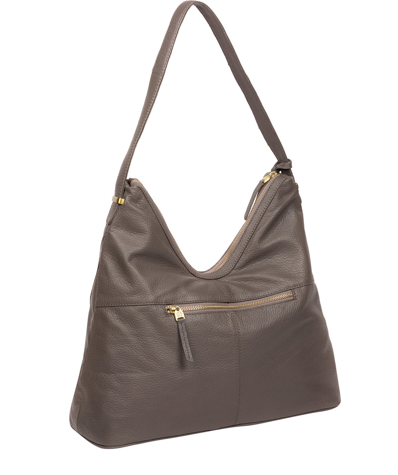 'Claire' Grey Leather Shoulder Bag image 3