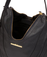 'Claire' Navy Leather Shoulder Bag image 4