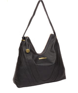 'Claire' Navy Leather Shoulder Bag image 5