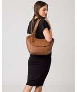 'Denisa' Tan Leather Tote Bag image 2