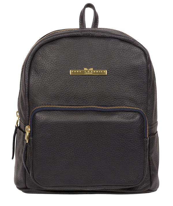 'Lois' Midnight Blue Leather Backpack image 1