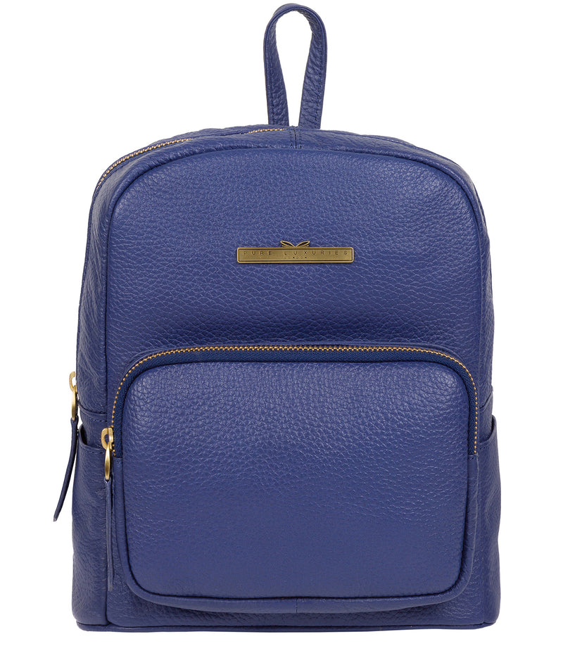 'Lois' Navy Leather Backpack image 1
