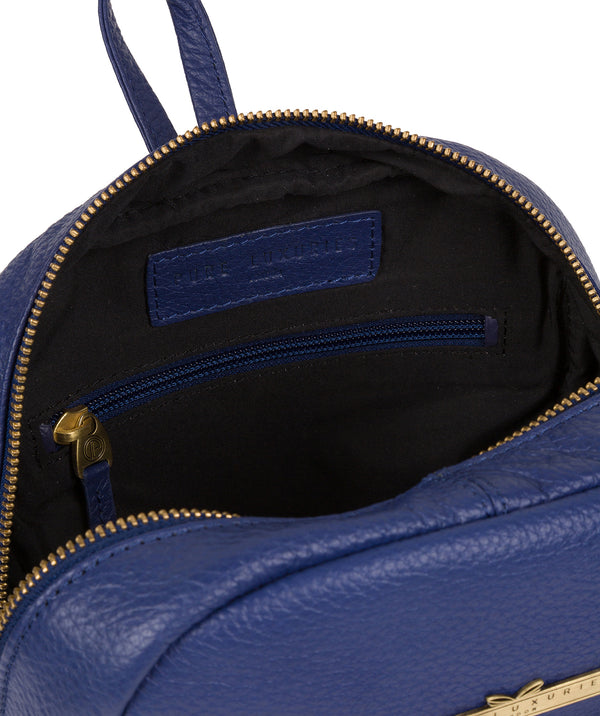 'Lois' Navy Leather Backpack image 4