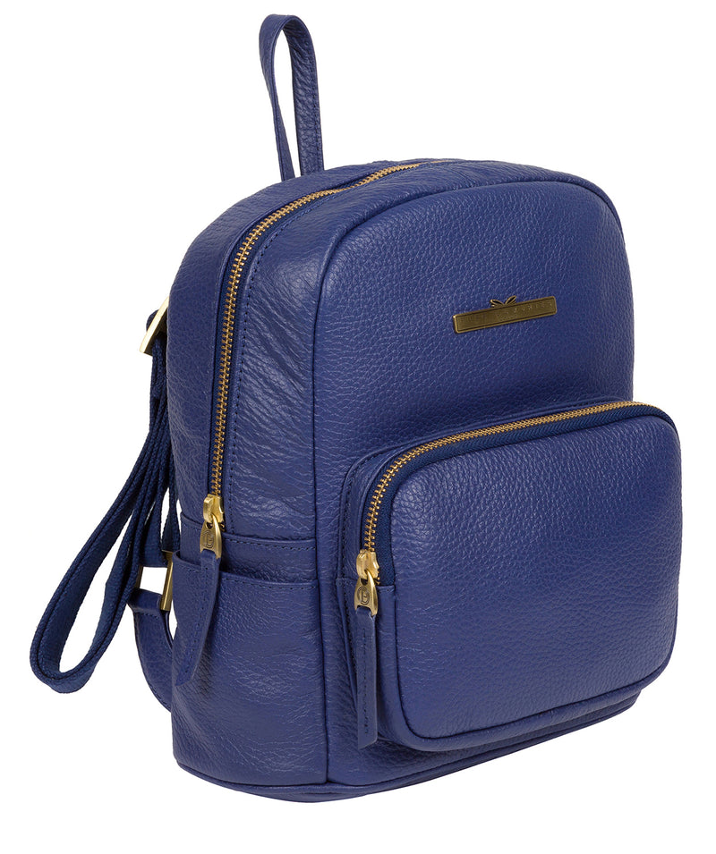 'Lois' Navy Leather Backpack image 5