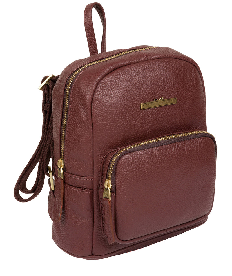 'Lois' Port Leather Backpack