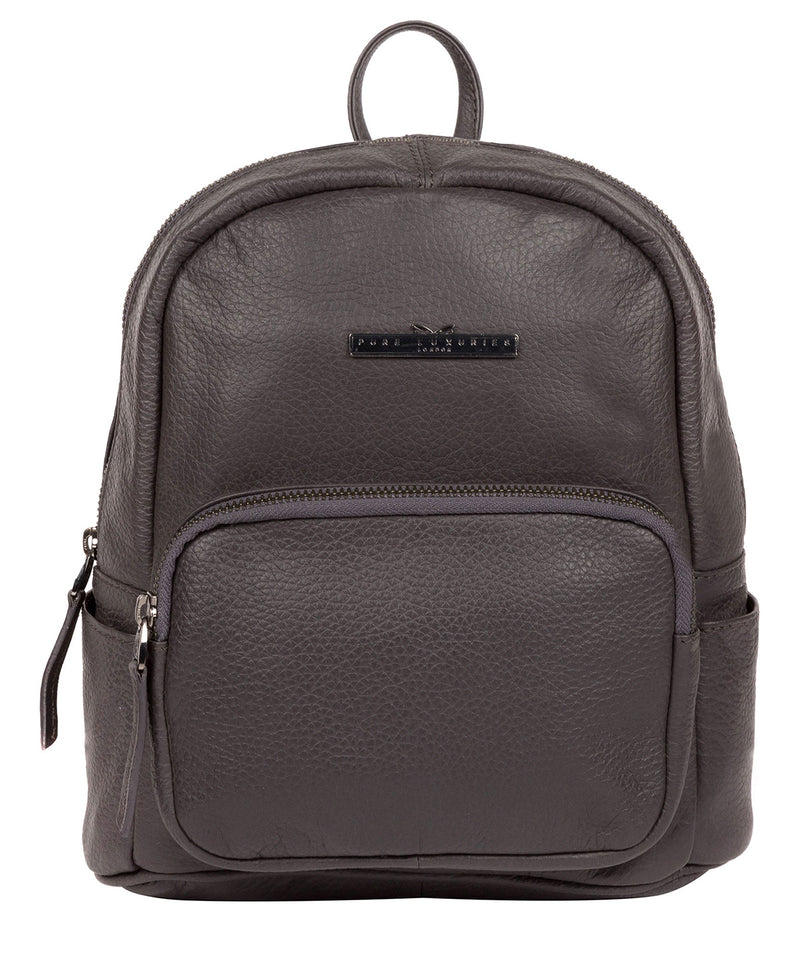'Lois' Slate Leather Backpack Pure Luxuries London