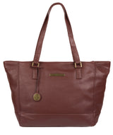 'Goldie' Port Leather Tote Bag image 1