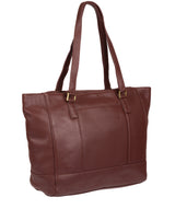 'Goldie' Port Leather Tote Bag image 3