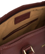 'Goldie' Port Leather Tote Bag image 4