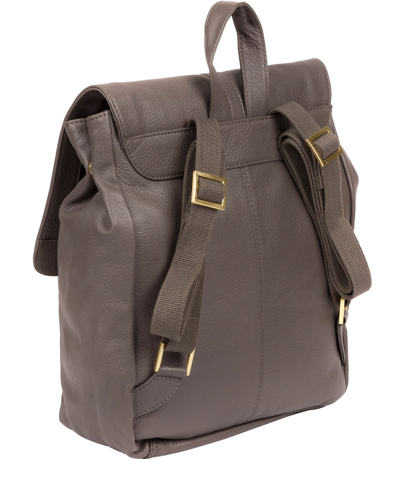 'Maryam' Grey Leather Backpack image 4