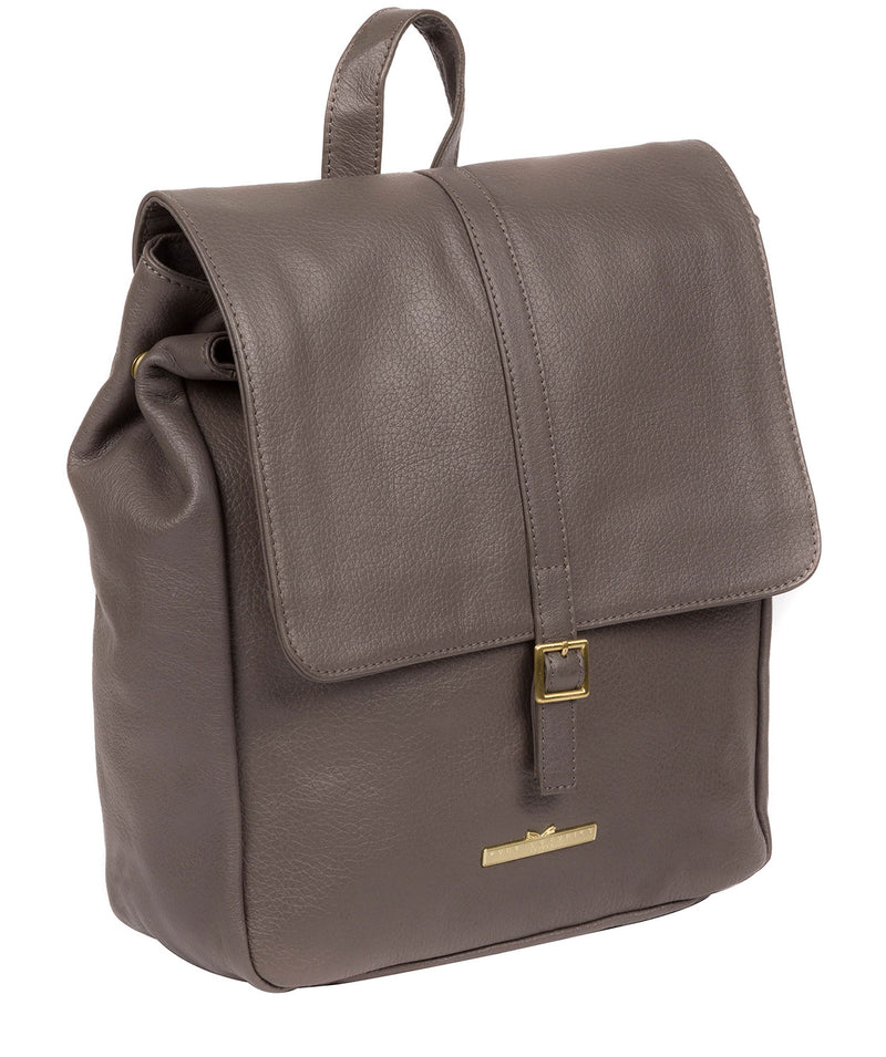'Maryam' Grey Leather Backpack image 6